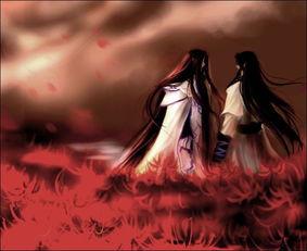 血莲绝前世-你是白色无根莲   我是红色彼岸花   你苍白如雪   我妖红似血   你落落与...