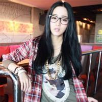 戴眼镜的女生头像可爱