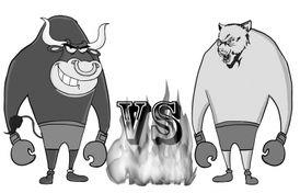 京华时报漫画-聚焦京企半年报 传媒概念牛势凶猛有色煤炭熊气逼人