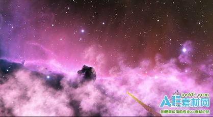 LED彩云星空背景视频素材下载 紫色唯美彩云星空视频素材 紫色神秘...