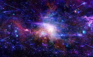 炫彩星空背景高清图片