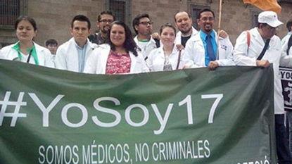 ...生上街游行要求莫将医生职业定罪(网页截图)-16名墨西哥医生因误...