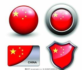 中国国旗圆形