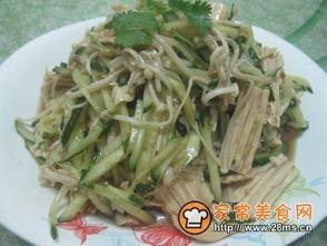 拌腐竹黄瓜金针菇的做法