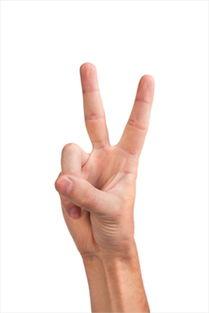 ,过去人们常用两根手指向罪犯扔东西,所以这个手势被认为带有侮辱...