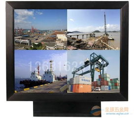22寸高清监视器 22寸监控用显示器 22寸BNC四画面显示器