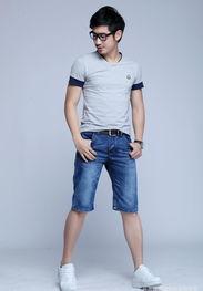 ...013夏季热卖男士牛仔五分裤 超薄棉质休闲透气 潮男最爱