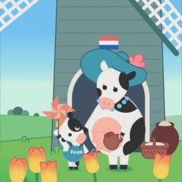 素佳儿演绎萌系荷兰风情, 荷 你... 是荷兰让风车的价值得到了最大体现...