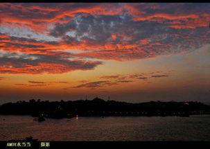 夕阳西下,最美不过满天的晚霞-厦门的天空