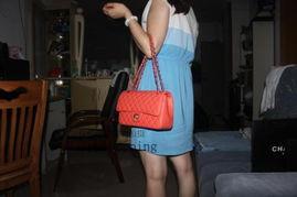 明星同款香奈儿包包CF羊皮真皮黑色链条品牌包包菱格纹单肩包女包