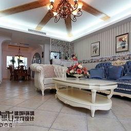 120平米家装地中海风格客厅装修效果图 简约-家装地中海风格图片