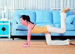 动作2 后抬臀-一学就会4步操 帮你在家练出小翘臀