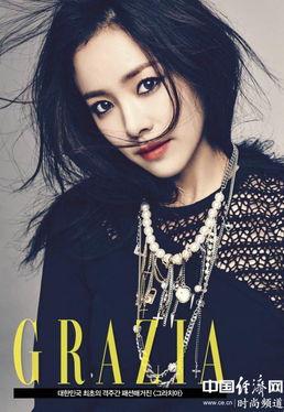 ...尚写真散发帅气摇滚魅力 韩国女星韩智敏日前亮相某时尚杂志展现...