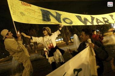 ...,还有一些极端和平主义者在伊拉克境内活动,充当