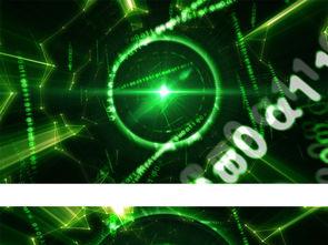 绿色高科技感线条空间二进制数字穿梭背景模板素材 高清MP4格式下...