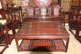 老挝大红酸枝沙发,交趾黄檀沙发,大红酸枝沙发 十件套产品图片,...