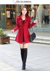 ...春秋冬新款妮子大衣韩版女装中长款毛呢外套修身立领妮子风衣
