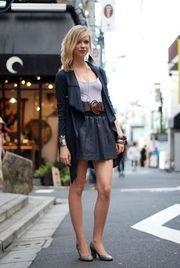 日本街拍快照黑魅裙装PK