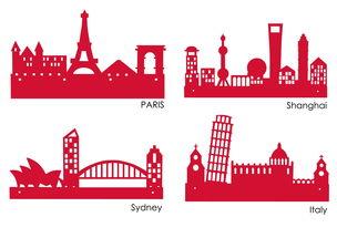 城市平面剪影