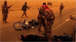伊拉克军警在沙暴中突袭天军阵地