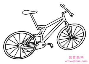 山地自行车简笔画图片
