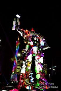 摘星揽月-幻彩之间 鎏光之城 广州国际灯光节开幕