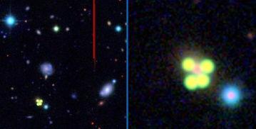 绿色光芒点亮宇宙深处-天文爱好者拍神秘UFO 4绿色光圈点亮太空深处