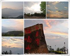 ...还未跳出来前 天空的一切变化-980919日月潭猫囒山晨拍
