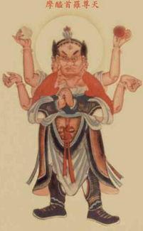 创造宇宙之最高主神,   佛教   视之为   色界   顶色究竟天之主.梵语摩...