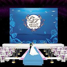 ...色海洋主题婚庆婚礼舞台迎宾背景喷绘设计-婚庆背景喷绘设计 婚庆...