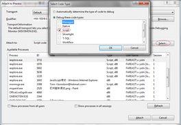 ...程支持的调试模式,比如你可以看?-调试JavaScript VB Script脚本程...