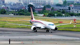 日本首款喷气式国产客机开始进行滑行试验