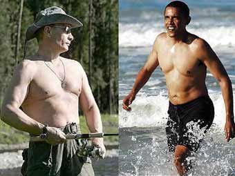 ...国际在线 资料图片-大佬的收藏 耍酷VS品位 硬汉普京与艺术奥巴马