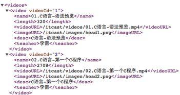 XML解析方式及GData框架使用