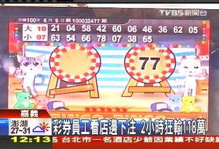 台嘉义一彩票店员工 2小时狂输118万新台币新闻频道