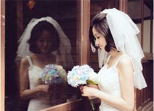 女生短发婚纱照怎么拍好看 短发新娘的婚纱照图片
