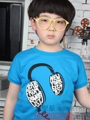 男宝宝波波头发型图片