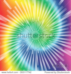 Realistic spiral tie dye vector illustration