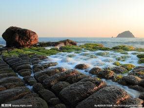 海边 岩石图片