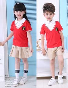夏款小学生校服