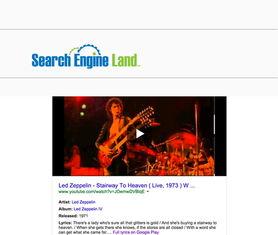 Engine Land丨   谷歌搜索结果加入歌词和Google Play链接   前几周,...