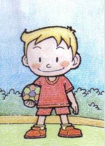 爱足球的小男孩简笔画 爱足球的小男孩图片欣赏 爱足球的小男孩儿童...