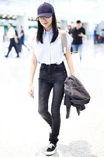 董洁穿紧身黑色牛仔裤现身,身材这么好,难怪能演富察皇后