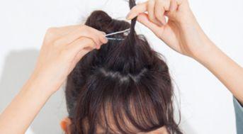 短发半丸子头怎么扎 短发半丸子头扎法图解