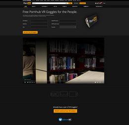 目前,Pornhub网站提供27部虚拟现实成人电影,旨在告诉用户网站到...