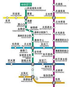 北京地铁8号线线路图与时刻表