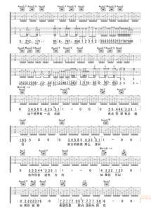 汪峰 向阳花 精准完整版A调六线吉他谱 虫虫吉他谱免费下载