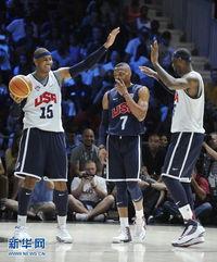 ...中.当日,美国国家男子篮球队在华盛顿举行公开训练,备战伦敦奥...