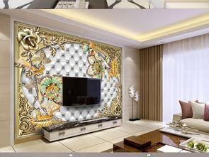 时尚欧式珠宝首饰花朵软包珠宝背景墙