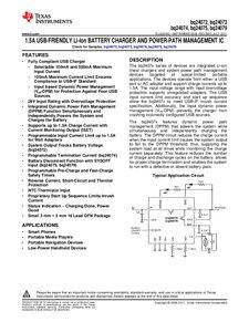 ...ents厂商 BQ24074 pdf预览第 1 页, datasheet数据手册下载 21ic电...
